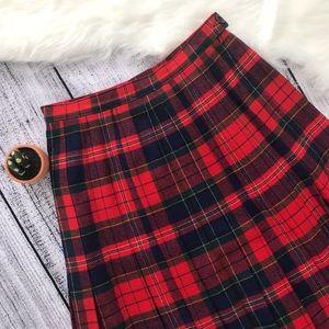 Pendleton Vintage Wool Plaid Midi Skirt 00501